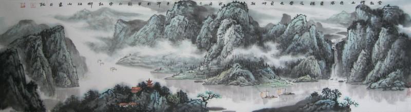 云散晴山几万重 烟收春色更冲融183-45