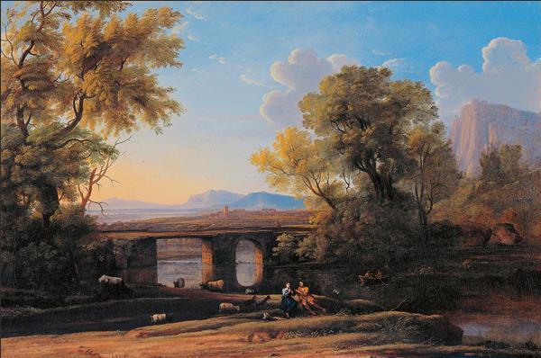 黎明 17世纪 (传)克劳德·洛兰(约1600—1682) 布面油画 74厘米×111厘米 都灵萨包达美术馆