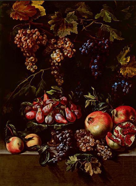 水果 17世纪 米开朗琪罗·切尔阔奇(1602—1660) 布面油画 97厘米×63厘米 都灵萨包达美术馆