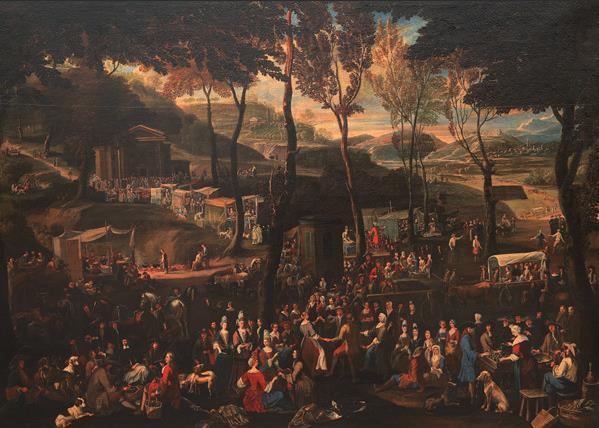 萨卢佐的集市 17世纪 彼得罗·伯里曼(1640—1710) 布面油画 143厘米×198厘米 都灵萨包达美术馆