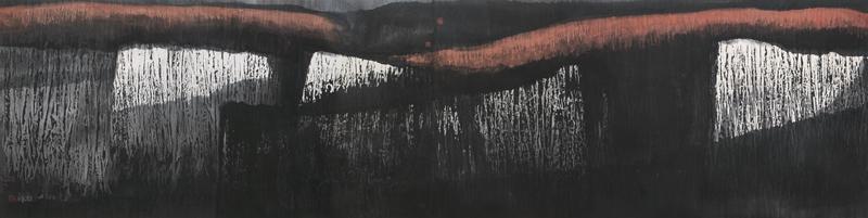 秦岭深处 纸本水墨 90cm×96.5cm 1983年