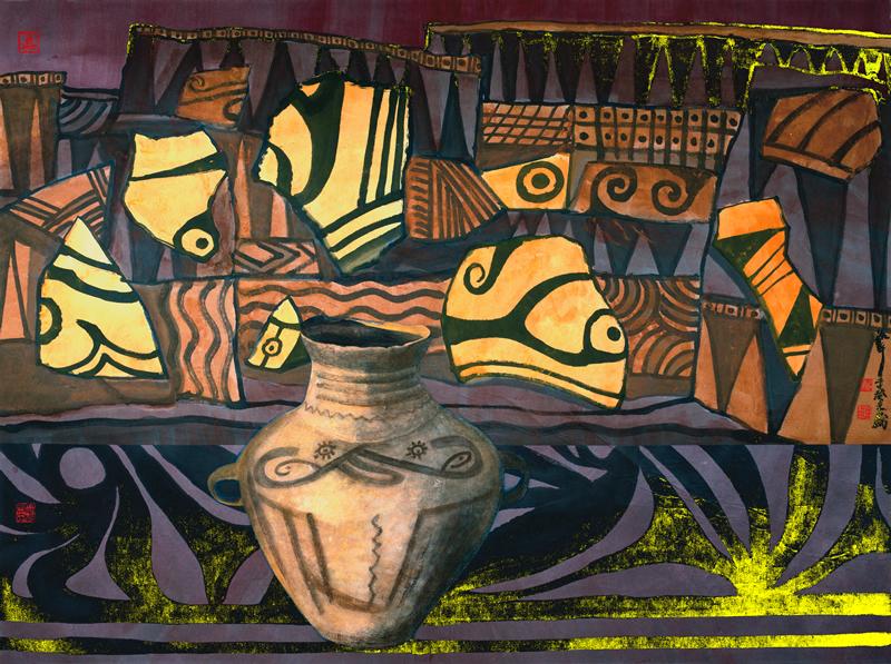 家园系列之一  纸本水墨 182cmx245cm 2003年